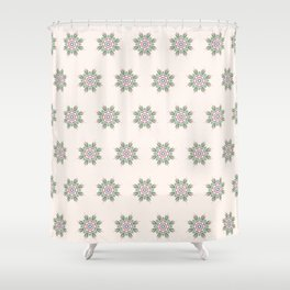 Blooming Florals in Beige Shower Curtain