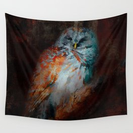Abstract Barred Owl Wall Tapestry