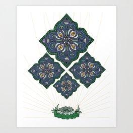 Lively Earth Mandala - v.1 Art Print