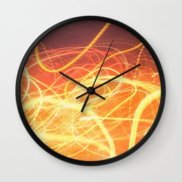 Late Night Venture Through a Bustling City of Lights Wall Clock
