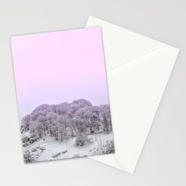 Pink Light on the trees in the forest Stationery Cards
