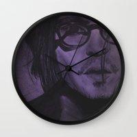 johnny depp Wall Clocks featuring Johnny Depp by Britt Mansouri