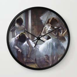 Dancers by Edgar Degas Wall Clock