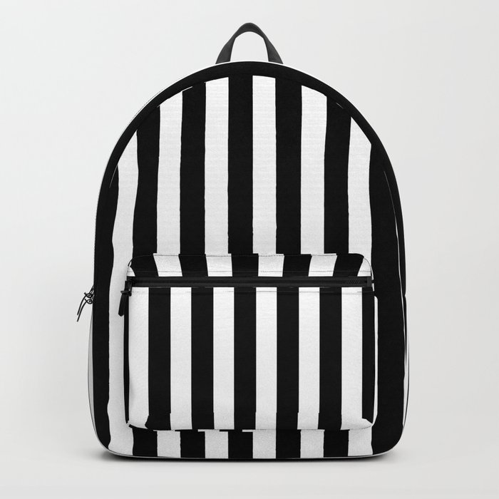 Small Black and White Football / Soccer Referee Stripes Backpack