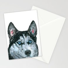 Husky printed from an original painting by Jiri Bures Stationery Cards