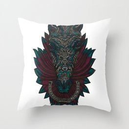 Steed and Quill Throw Pillow
