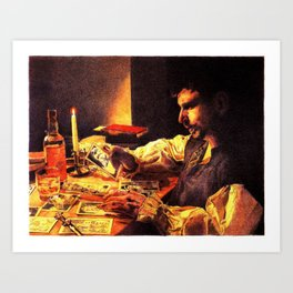 Reading the Cards Art Print