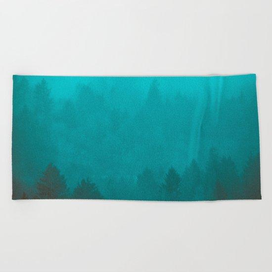 PNW Fog Forest Beach Towel