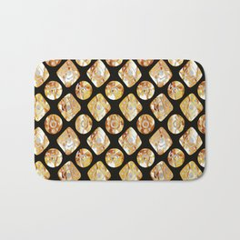 Gold print Bath Mat
