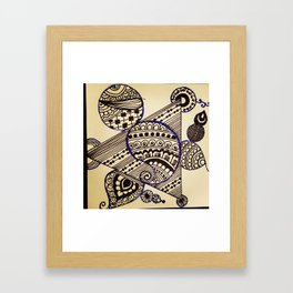 Geometric henna Framed Art Print