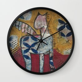 Let Your Spirit Guide You  Wall Clock