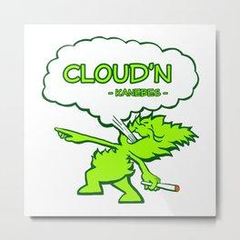 Cloud'n Metal Print