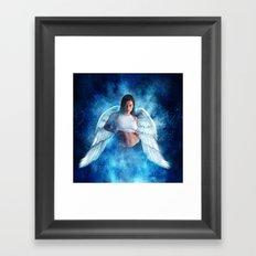 Ad Girl's Heaven Plea Framed Art Print