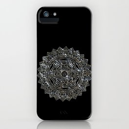 Aztec Mexican Silver Mandala iPhone Case
