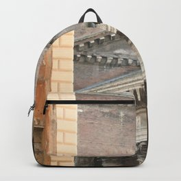 Street View of the Pantheon of Rome Backpack