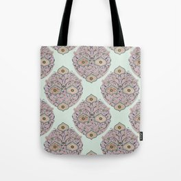 Victorian floral Tote Bag