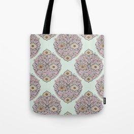 Victorian floral Tote Bag