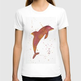 Colorful Dolphin Abstract Art by Saribelle T-shirt