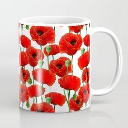 Red Poppy Pattern Coffee Mug