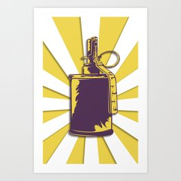 old grenade Art Print