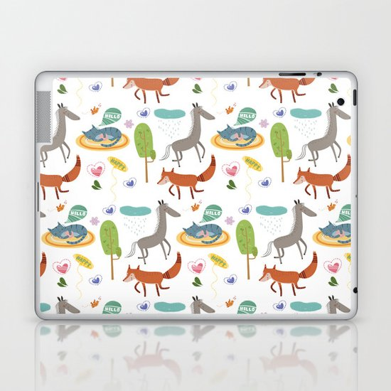 Happy animals Laptop & iPad Skin
