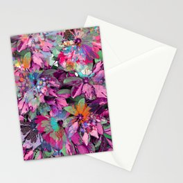 Floral abstract 84 Stationery Cards