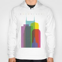 nashville Hoodies featuring Shapes of Nashville by Glen Gould