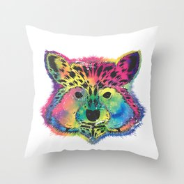 Racoon Colorful Throw Pillow