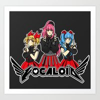 vocaloid Art Prints featuring Vocaloid / Babymetal by Tigers and Daises (LadyBeemer)