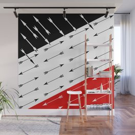 Red black , white pattern Boom 2 . Wall Mural