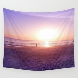 Fluorescent Beach Wall Tapestry