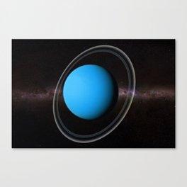 Planet Uranus Deep Space Telescopic Photograph Canvas Print