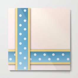 Polka Dot Ribbons Metal Print