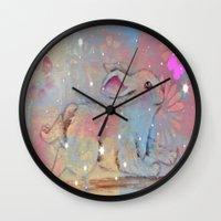 bunny Wall Clocks featuring Bunny by Judy Skowron