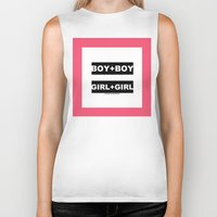 equality Biker Tanks featuring equality by bisualhart