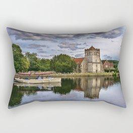 Boating At Bisham Rectangular Pillow