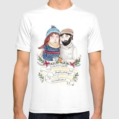 Warmest Holiday Wishes Mens Fitted Tee MEDIUM White