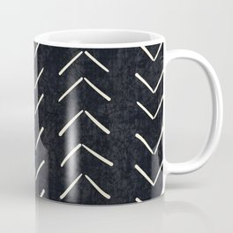 Mudcloth Big Arrows in Black and White Coffee Mug