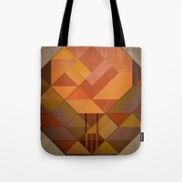hot air balloon Tote Bags featuring Hot Air Balloon Abstract by Alyn Spiller