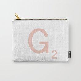 Pink Scrabble Letter G - Scrabble Tile Art Carry-All Pouch