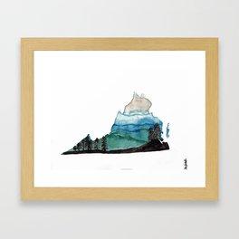 Blue Ridge Mountains Virginia Watercolor Framed Art Print