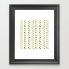Colorful Ladybugs on White Framed Art Print