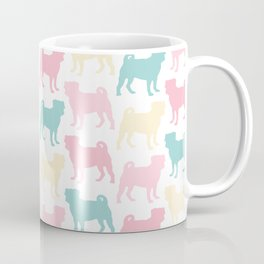 Pastel Pugs Pattern Coffee Mug