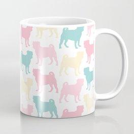 Pastel Pugs Pattern Coffee Mug
