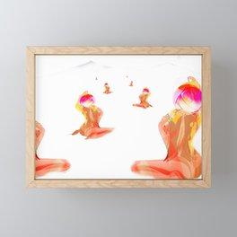 Ocean of Cosmos. Framed Mini Art Print