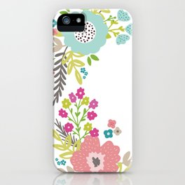 Floral fresh spring wreath iPhone Case