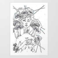 Shroooooms Art Print