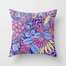 Happy Garden Throw Pillow