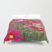 cosmos Duvet Covers featuring Cosmos by Cherie DeBevoise