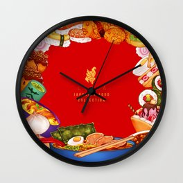 Japanese Food Collection Wall Clock